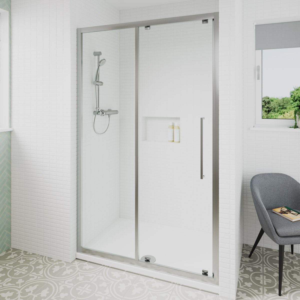 Ideal Standard 6mm sliding door rectangular shower door 1200