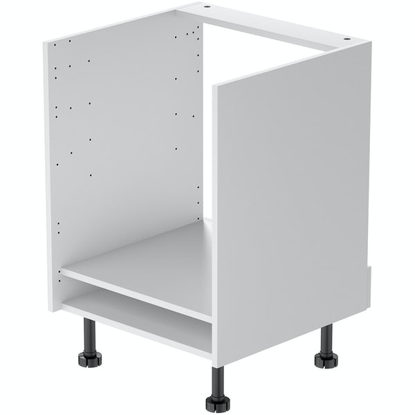 Schon Boston white slab 600mm built in oven housing