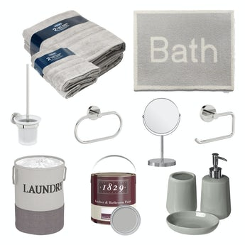Bathroom refresh box in grey