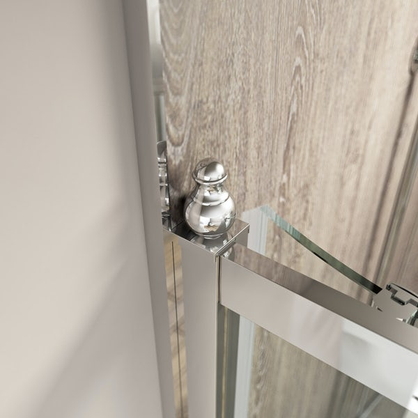 The Bath Co. Camberley 8mm traditional sliding shower door