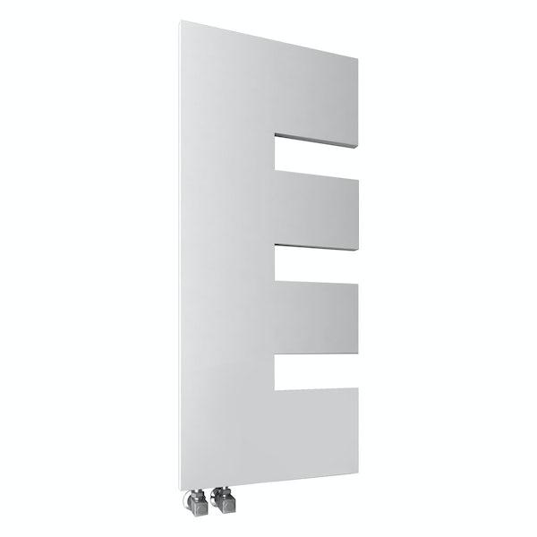 Reina Ella white steel designer radiator 1200 x 500