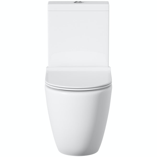 Mode Harrison comfort height close coupled toilet with soft close seat