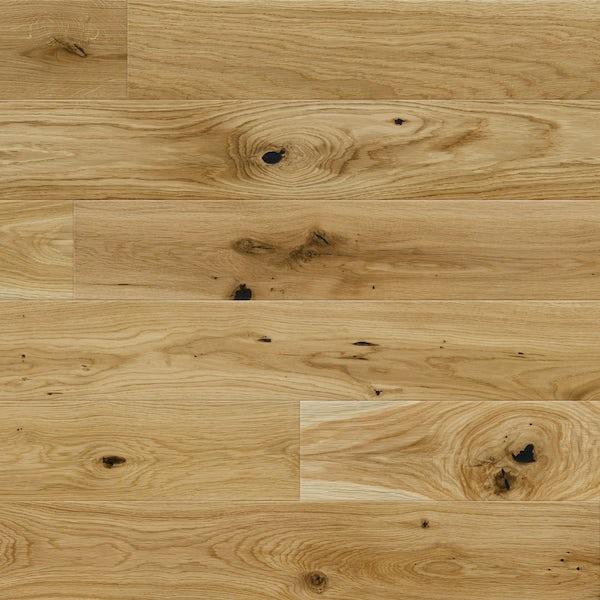 Basix Oak engineered matt UV lacquered bevelled click wood flooring
