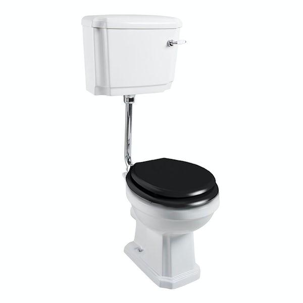 The Bath Co. Cromford low level toilet inc black soft close seat