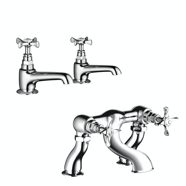 Mira Virtue basin tap and bath mixer tap pack