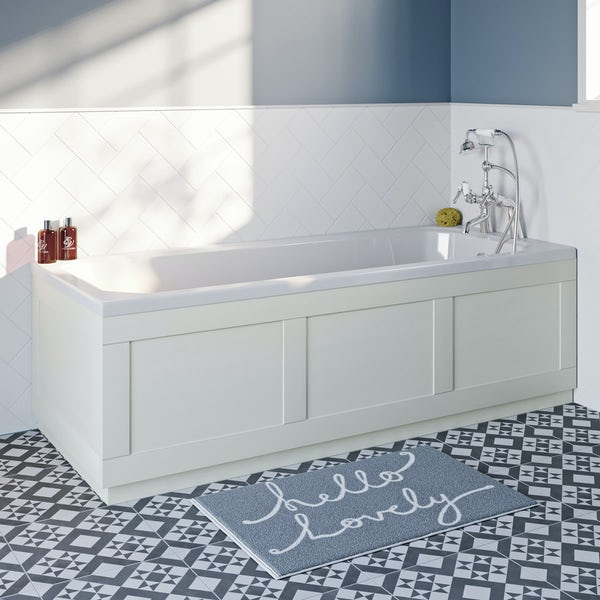The Bath Co. Newbury white bath front panel 1700mm