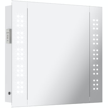 Mode Fuller LED illuminated mirror cabinet 600 x 650mm with demister & charging socket