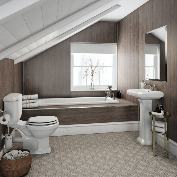 Multipanel Heritage Logan Oak Hydrolock shower wall panel