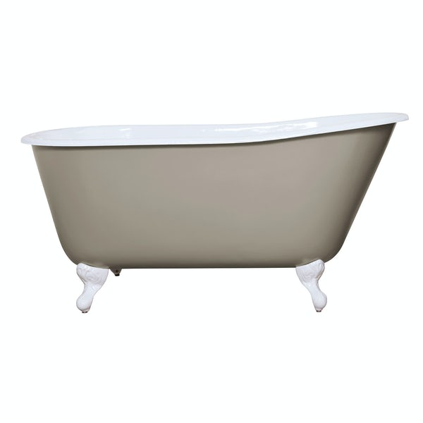 The Bath Co. Warwick pavilion grey cast iron bath