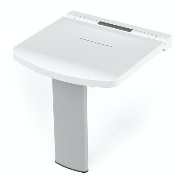 AKW Onyx fold up shower seat white