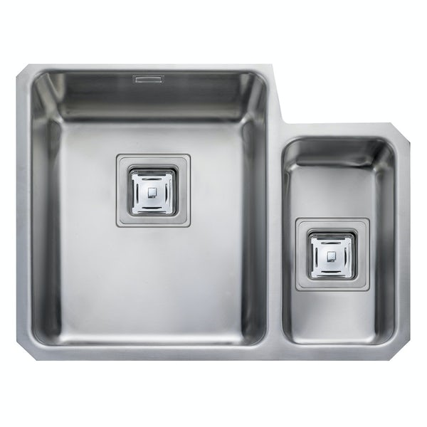 Rangemaster Atlantic Quad 1.5 bowl undermount right handed kitchen sink with waste