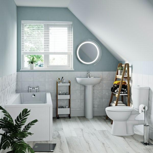 Clarity straight bath suite 1500 x 700