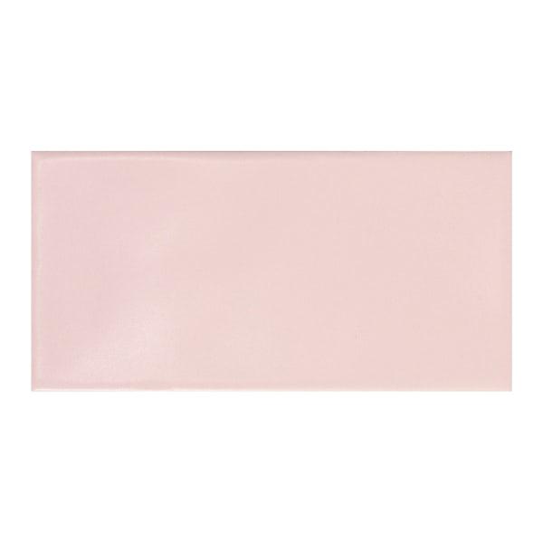 Annecy powder pink matt wall tile 75mm x 150mm