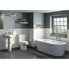 Main image for Orchard Wharfe complete freestanding bath suite with ProofVision 19 inch waterproof bathroom TV
