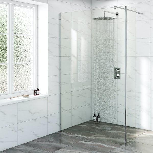 Mode Renzo round slim stainless steel shower head 400mm