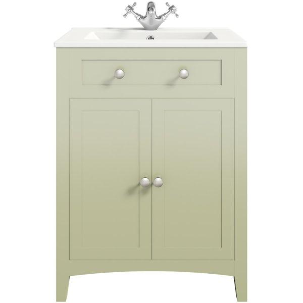 Bathroom Vanity Units B Q: The Bath Co. Camberley Sage Vanity Unit With Basin 600mm