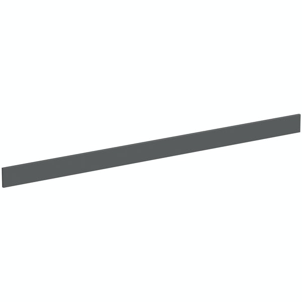Mode Nouvel gloss grey plinth 2.4m