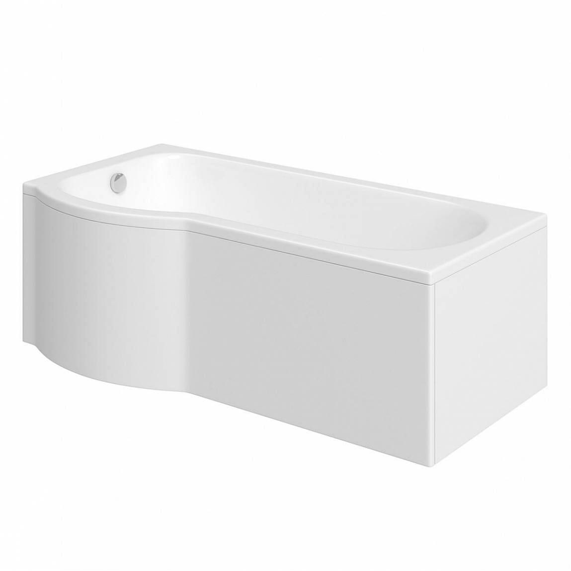 Orchard P shaped left handed shower bath