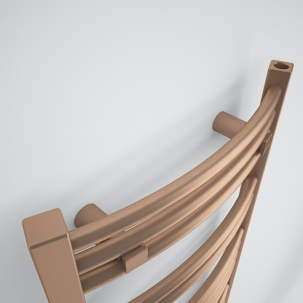 Terma Jade glavanised copper designer towel rail