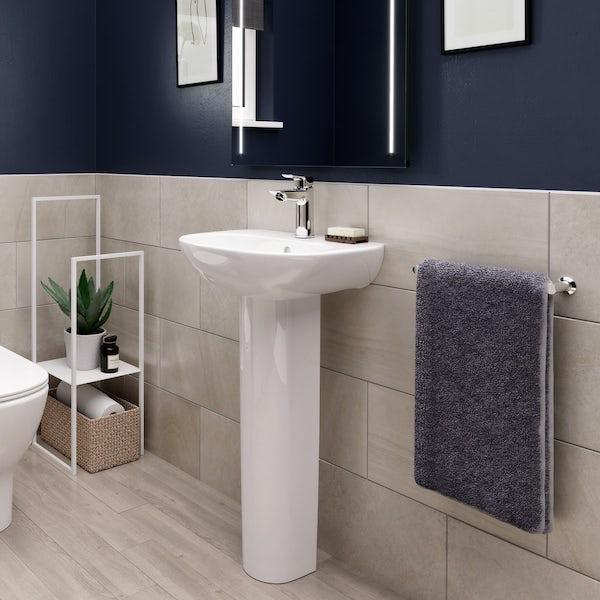 Ideal Standard Tesi 1 tap hole full pedestal basin 450mm
