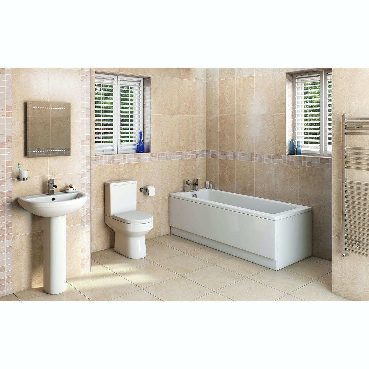 orchard wharfe bathroom suite with straight bath. Black Bedroom Furniture Sets. Home Design Ideas
