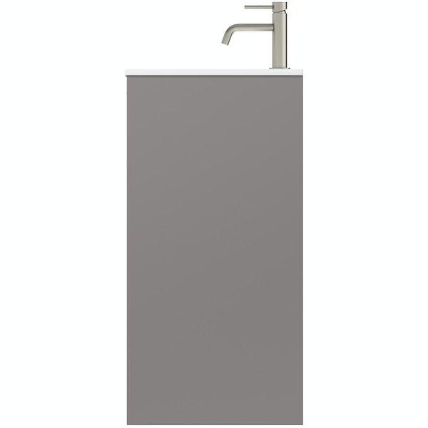 Mode Banks textured lava stone matt vanity unit 800mm