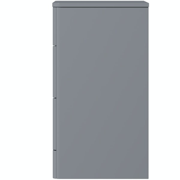 Mode Adler grey 800mm floorstanding vanity unit with countertop