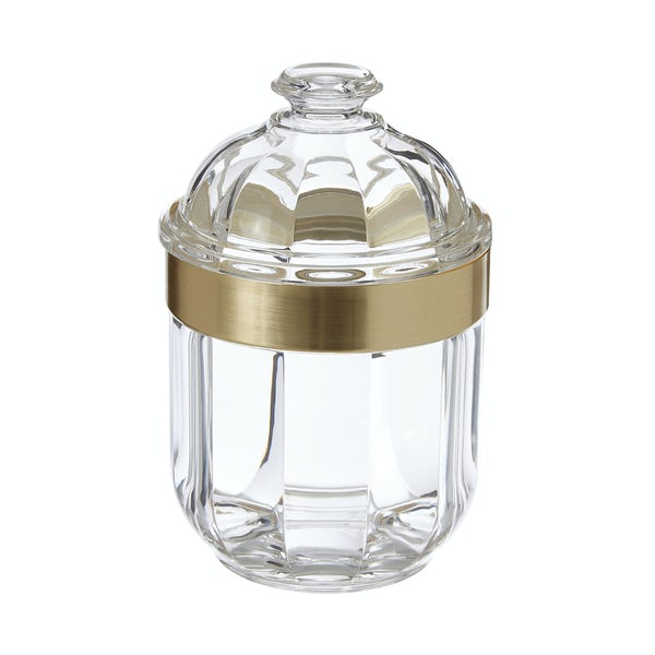 Light gold small acrylic storage jar