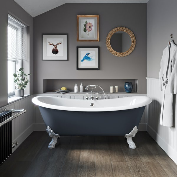 The Bath Co. Dover province blue cast iron bath