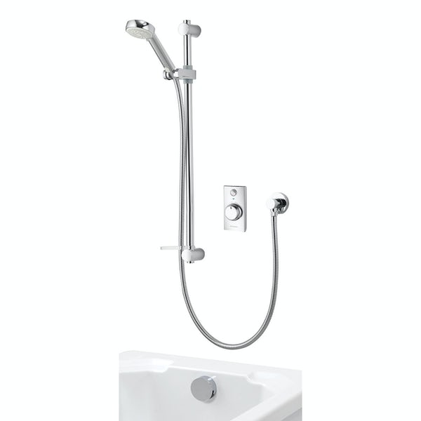 Aqualisa Visage Q Smart concealed shower standard with adjustable handset and bath filler with overflow