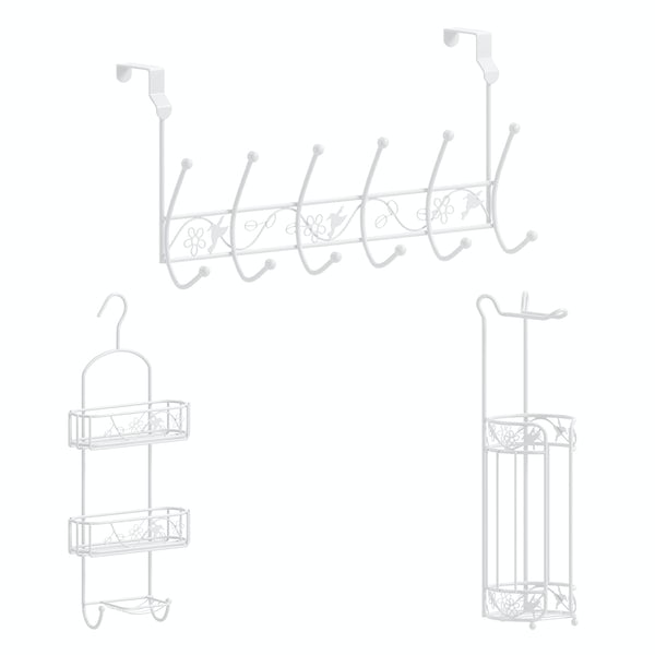 Accents 3 piece bathroom accessory set