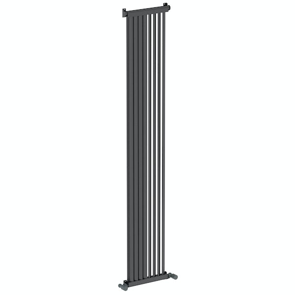 Mode Zephyra anthracite grey vertical radiator 1800 x 328