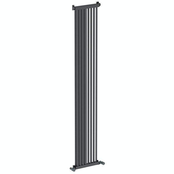 Mode Zephyra anthracite grey vertical radiator 1800 x 328