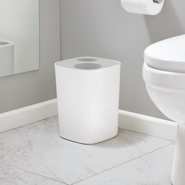 Joseph Joseph Split grey bathroom waste separation bin