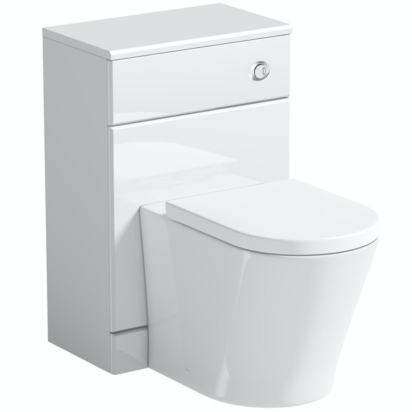 Orchard Eden white slimline back to wall unit with contemporary toilet and seat