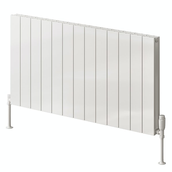 Reina Casina white double horizontal aluminium designer radiator