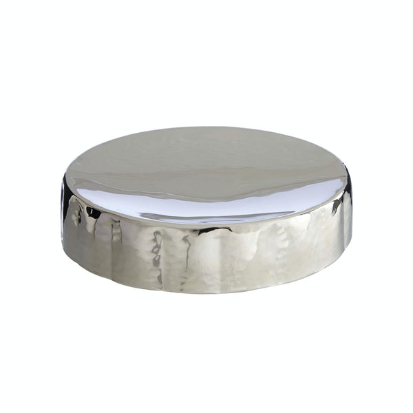 Hammered nickel effect soap dish
