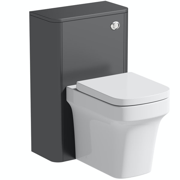 Mode Carter slate grey back to wall unit and toilet with soft close seat