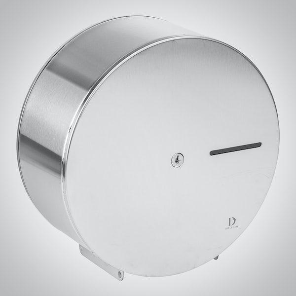 Dolphin commercial satin stainless steel mini jumbo dispenser