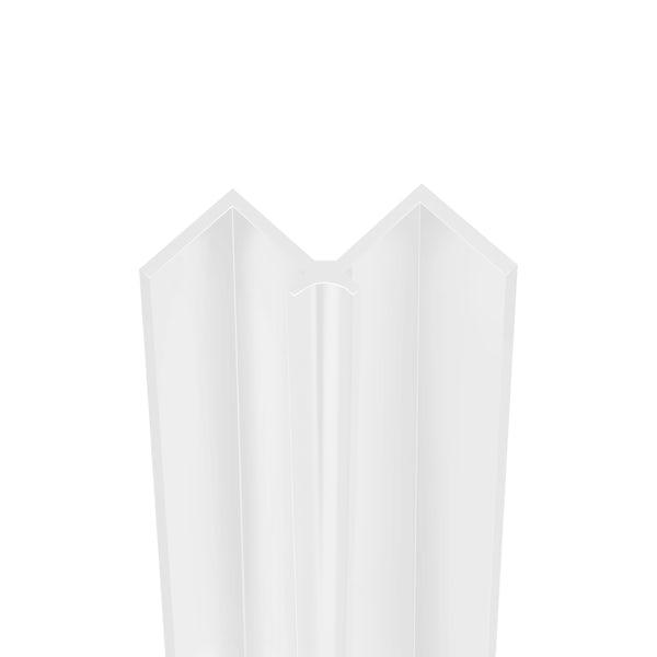 Showerwall White Gloss internal corner profile for waterproof wall panels