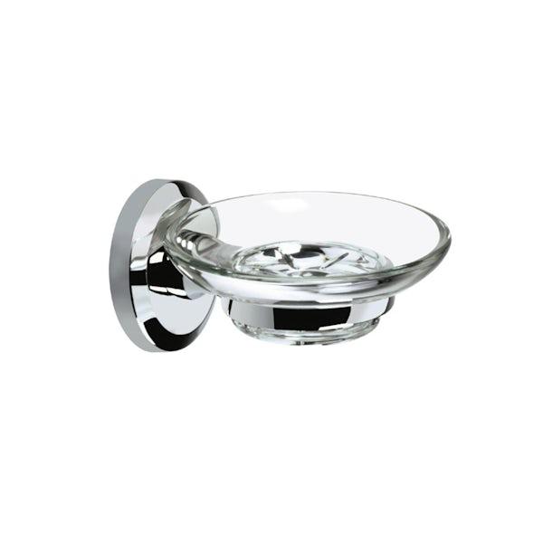 Bristan Solo round soap dish and holder