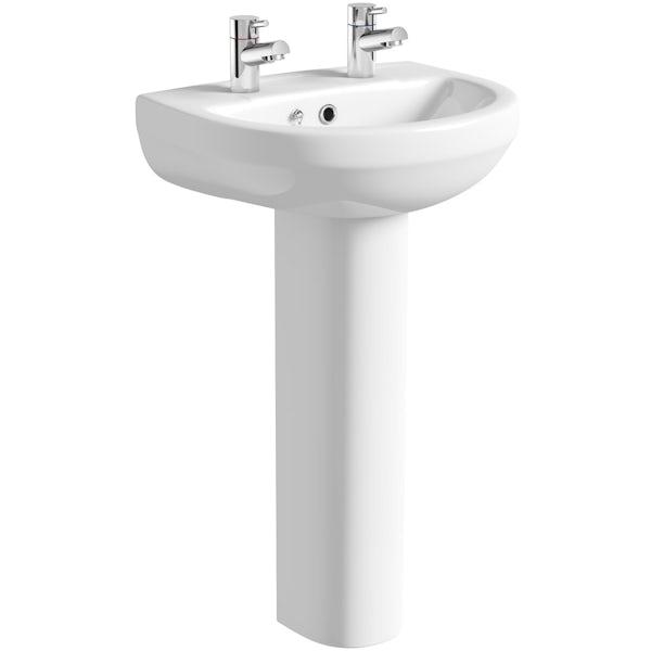 Oakley 500 2TH Basin & Pedestal