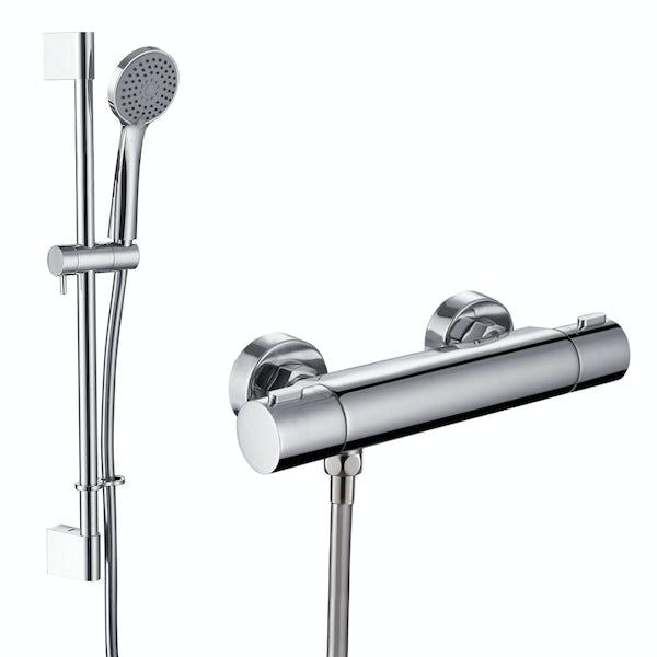 Orchard Low pressure slider rail mixer shower