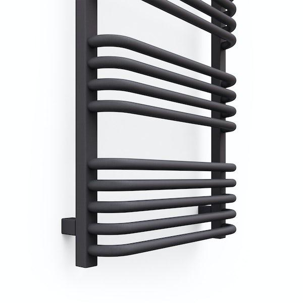 Terma Alex modern grey designer towel rail