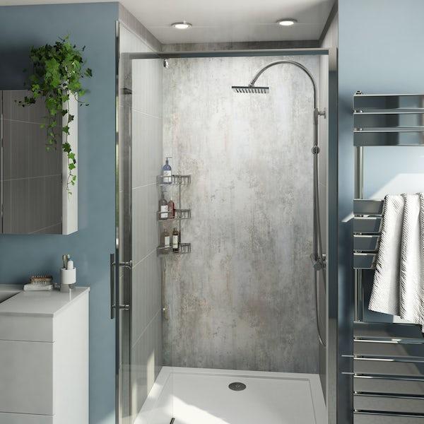 Multipanel Economy Urban Stucco Venetian shower wall single panel 1000mm