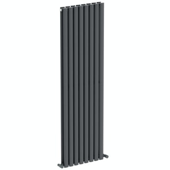 Mode Tate anthracite grey double vertical radiator 1600 x 480