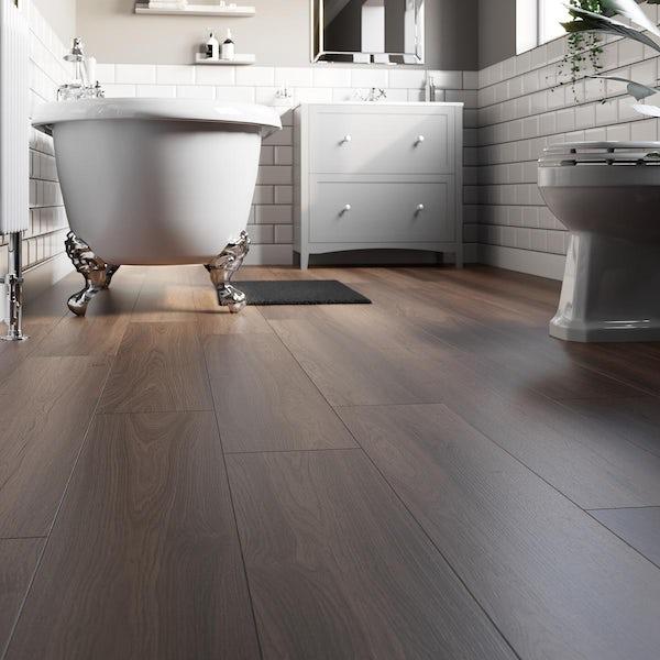 Ganaraska vintage walnut laminate flooring 8mm