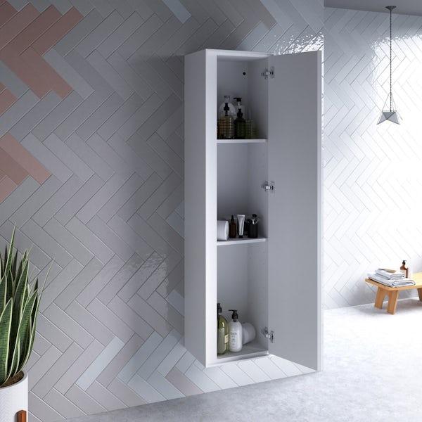 Ideal Standard Concept Air gloss and matt white wall cabinet