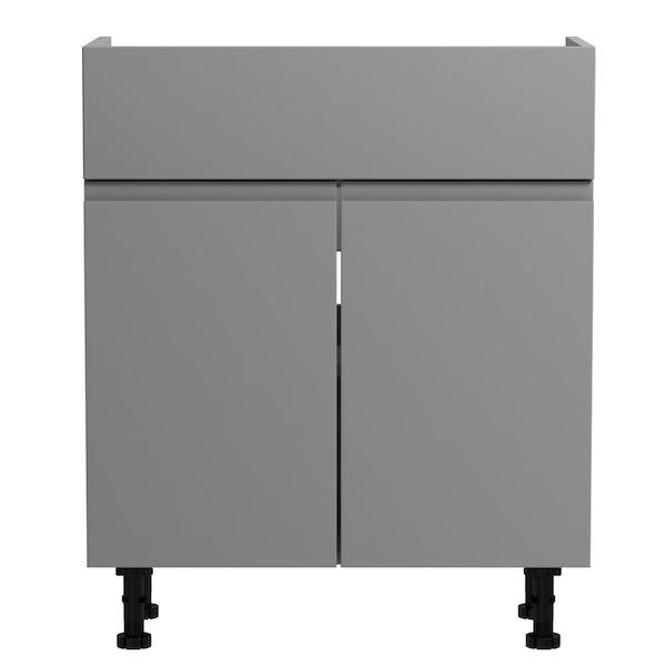 Orchard Wharfe slate grey floorstanding vanity unit 650mm