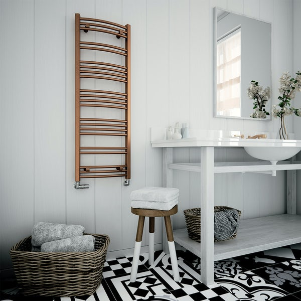 Terma Jade glavanised copper designer towel rail